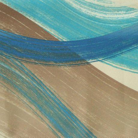 2705 Dekor Welle blau-braun
