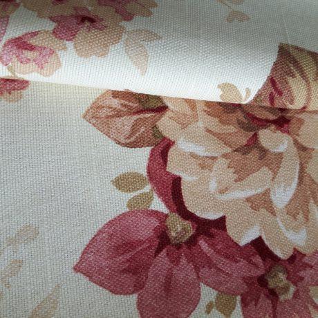 2884 Dekor Blume chianti-beige