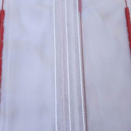 F952 Gardine streif rot