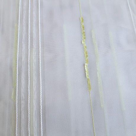F952 Gardine streif grün