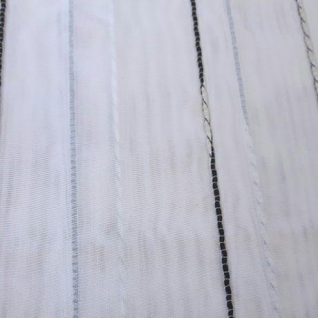 968 Gardine streif schwarz-weiß