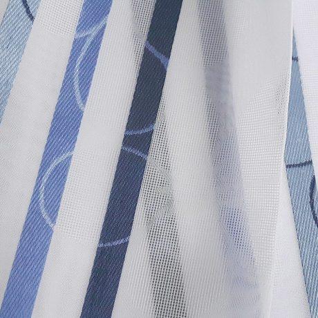 1781 Gardine streif blau