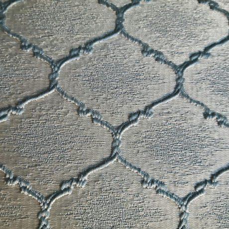 3497 Dekor Wabe silber-aqua