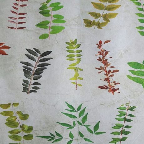 3507 Dekor Pflanzen grün