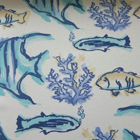 2989 Dekor Fisch blau