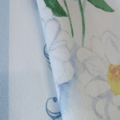 3622 Dekor Alpenblume/streif blau