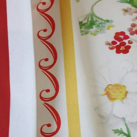 3622 Dekor Alpenblume/streif rot