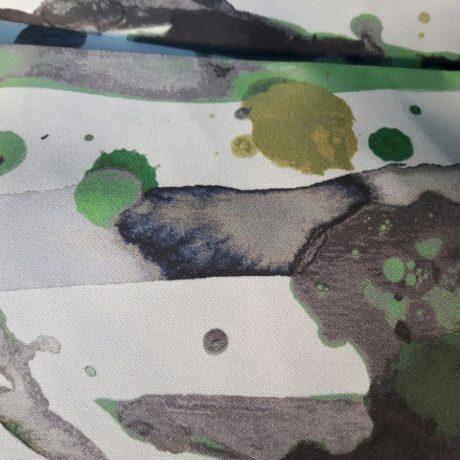 3642 Dekor Klecks grün-schwarz