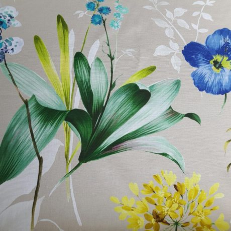 3659 Dekor Hibiskus blau