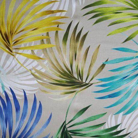 3660 Dekor Palmblätter blau