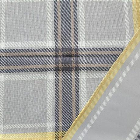 3782 Dekor karo/streif grau-gelb
