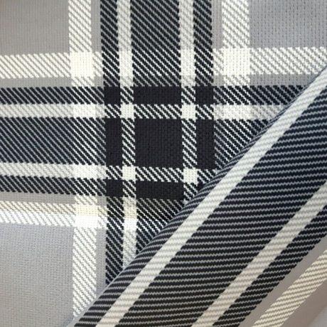 3782 Dekor karo/streif grau-schwarz