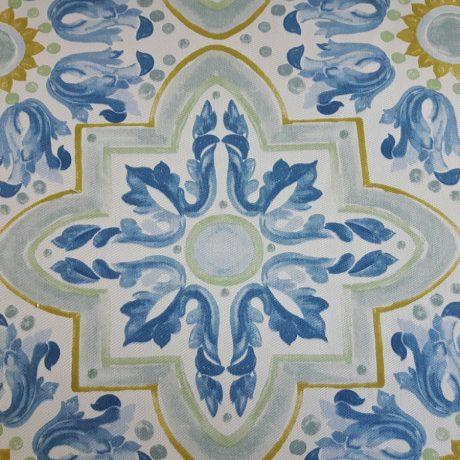 3392 Dekor gemustert blau