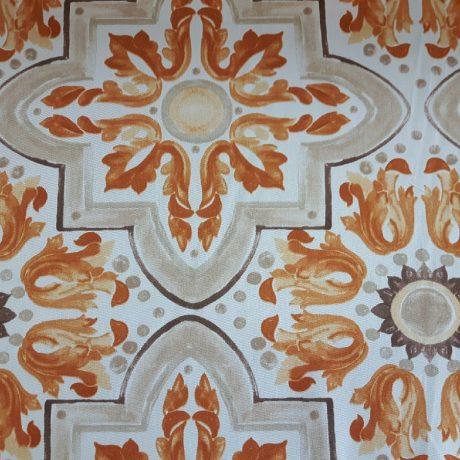 3392 Dekor gemustert orange
