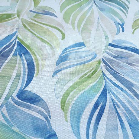 3650 Dekor Blüte blau-grün