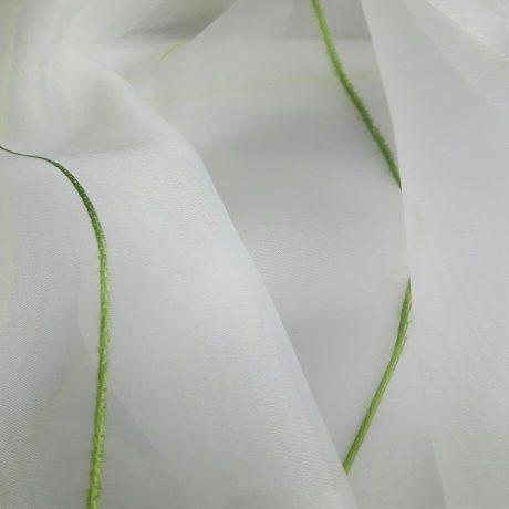 1034 Gardine Längswelle grün