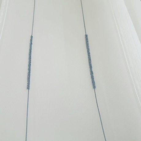 F952 Gardine streif blau
