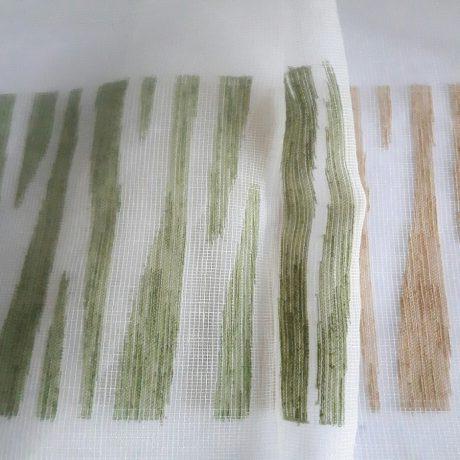 1670 Gardine gemustert grün-beige