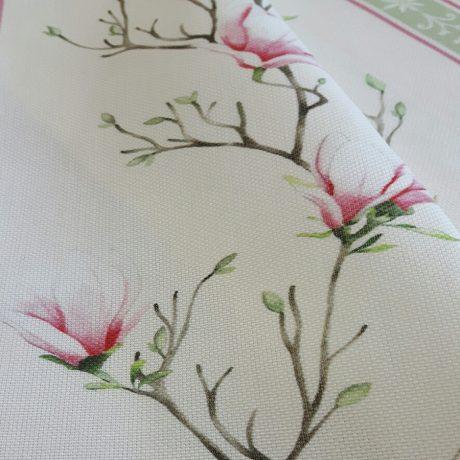 3876 Dekor Magnolie/streif rosa