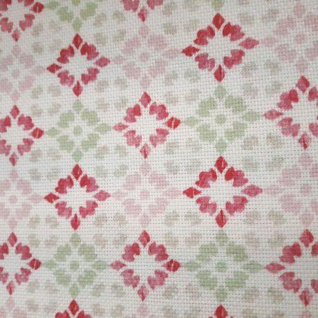 F3891 Dekor Kachel grün-rosa