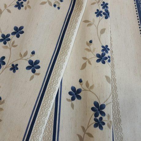 F3892 Dekor Blume/streif blau
