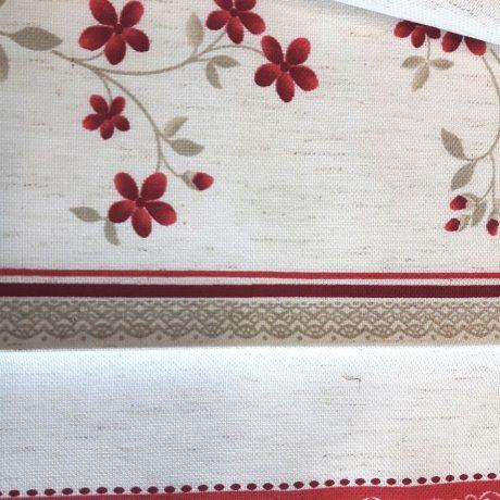 3892 Dekor Blume/streif rot