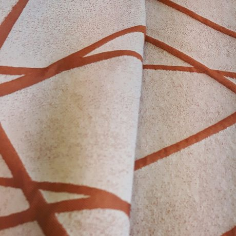 3897 Dekor gemustert orange