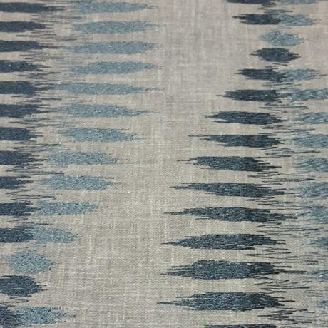 3898 Dekor gemustert meeresblau