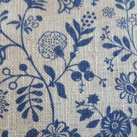 3924 Dekor Blume allover blau