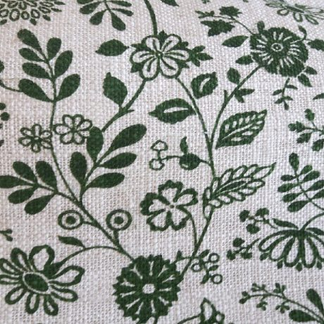 3924 Dekor Blume allover grün