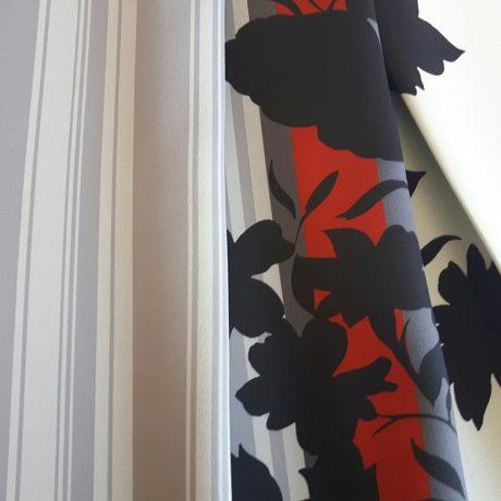 2859 Dekor Ranke rot-schwarz