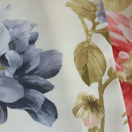 2786 Dekor Blume rot-blau
