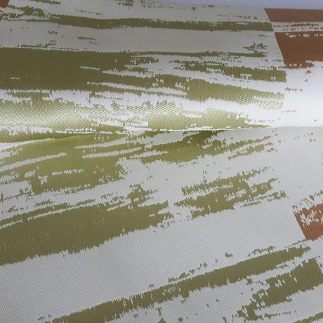 3389 Dekor Querstreif grün-karamell