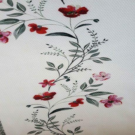 4023 Dekor Blume/streif rosa