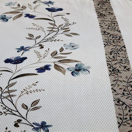 4023 Dekor Blume/streif blau