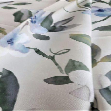 4028 Dekor Blume blau-grün