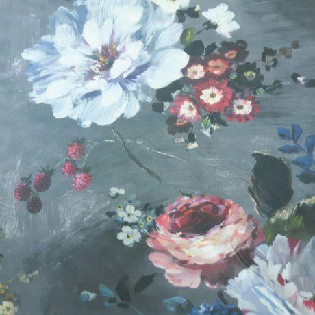 4065 Dekor Blumen grau