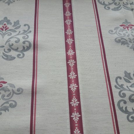 4071 Dekor Ornament/streif grau-rot