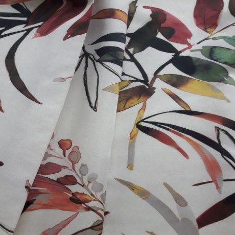 4076 Dekor Blätter rot