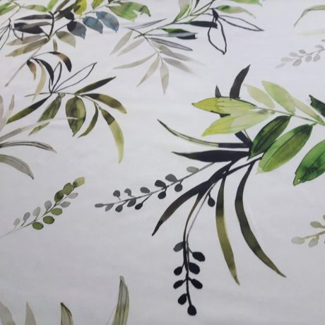 4076 Dekor Blätter grün